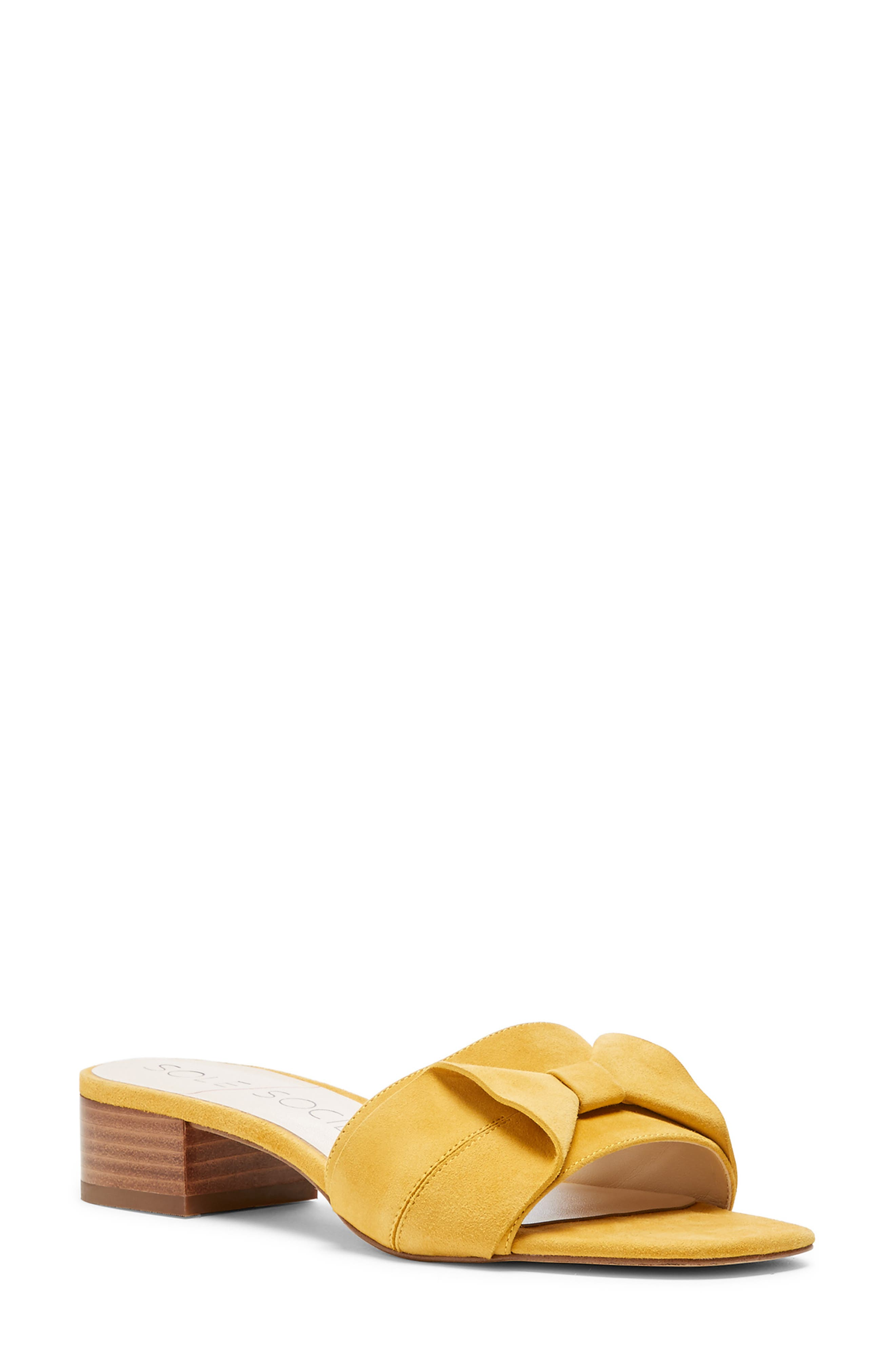 Sole Society Erianna Bow Slide Sandal- Yellow