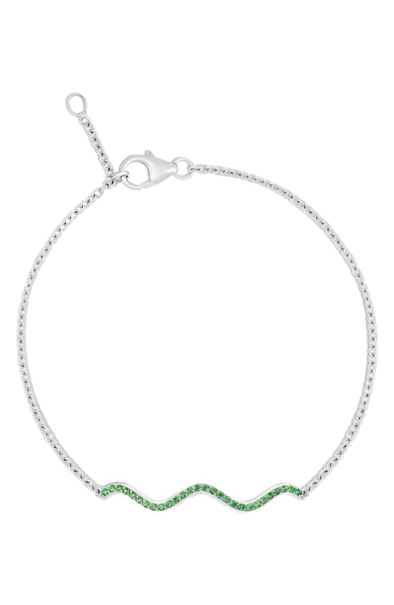 SABINE GETTY Memphis Chained Wave Tsavorite Bracelet, Main, color, 710