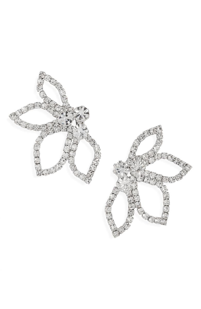 CRISTABELLE Crystal Petal Earrings, Main, color, 040