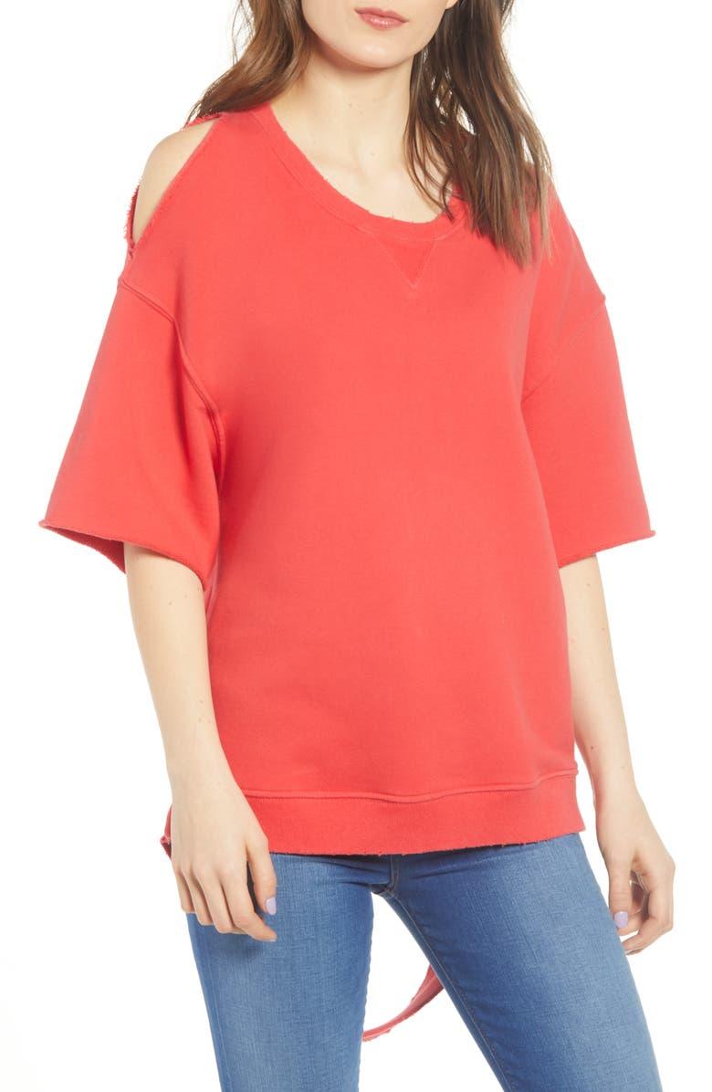 HUDSON JEANS Cutout Sweatshirt, Main, color, 600