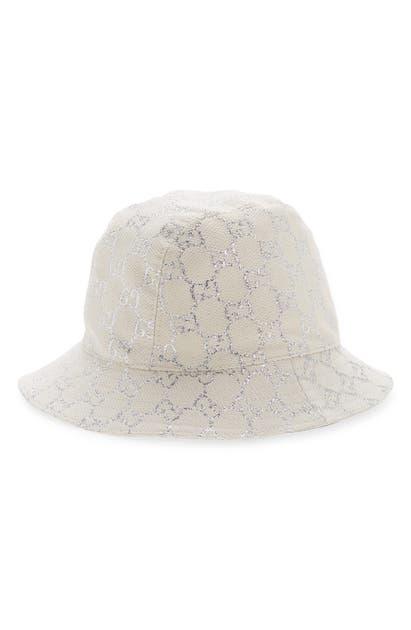 Gucci DESERT METALLIC GG LOGO BUCKET HAT