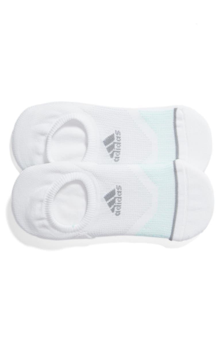 ADIDAS Prime Mesh III 2-Pack No-Show Socks, Main, color, WHITE/ GREY/ MINT/ ONYX