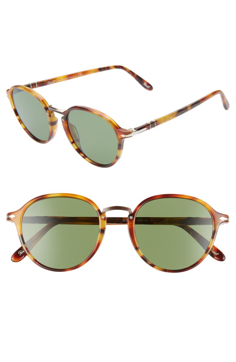Persol 51mm Round Sunglasses