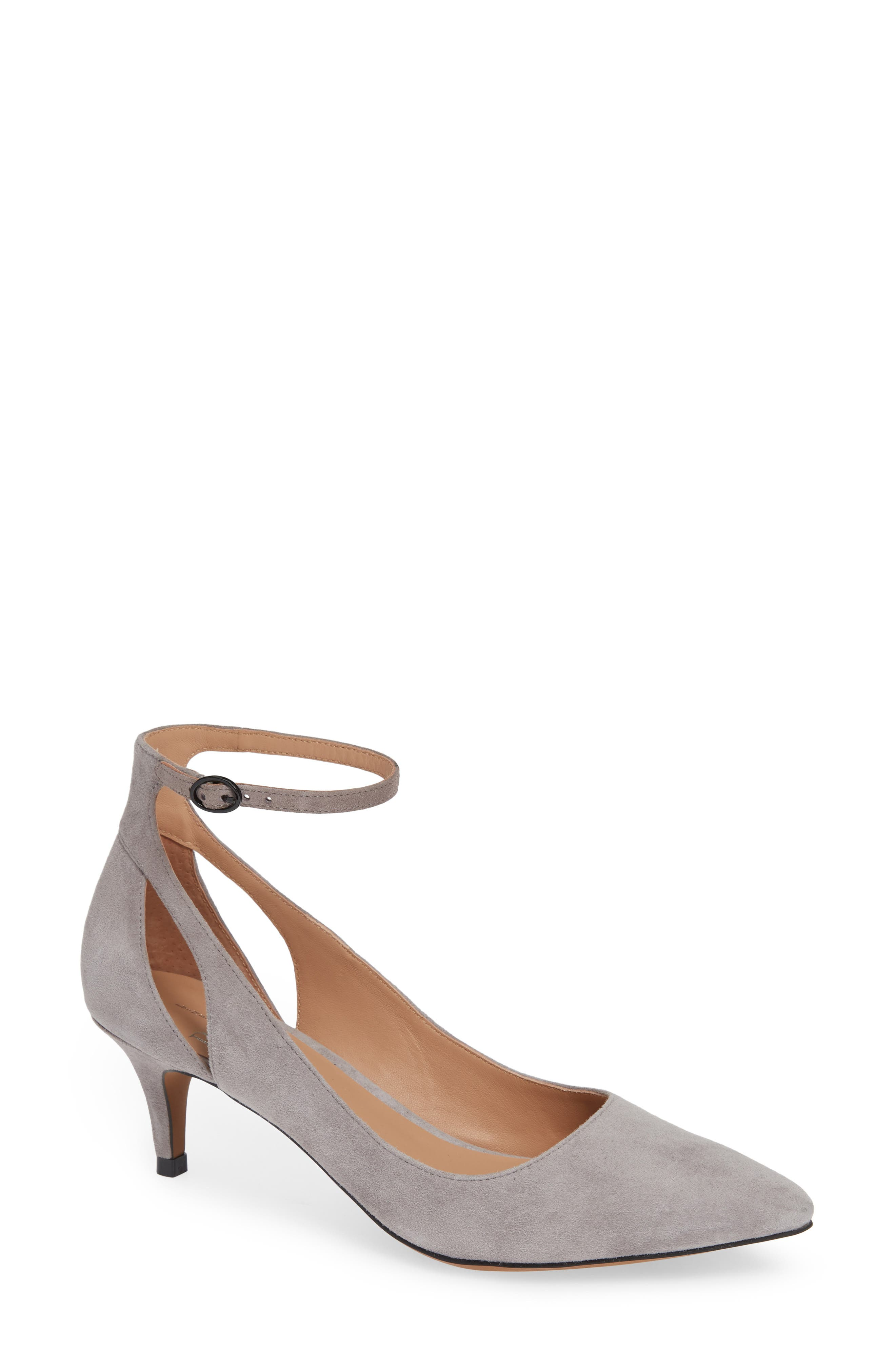 Linea Paolo Carrie Ankle Strap Pump, Grey