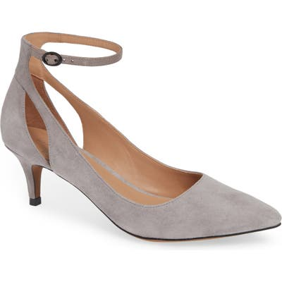Linea Paolo Carrie Ankle Strap Pump- Grey