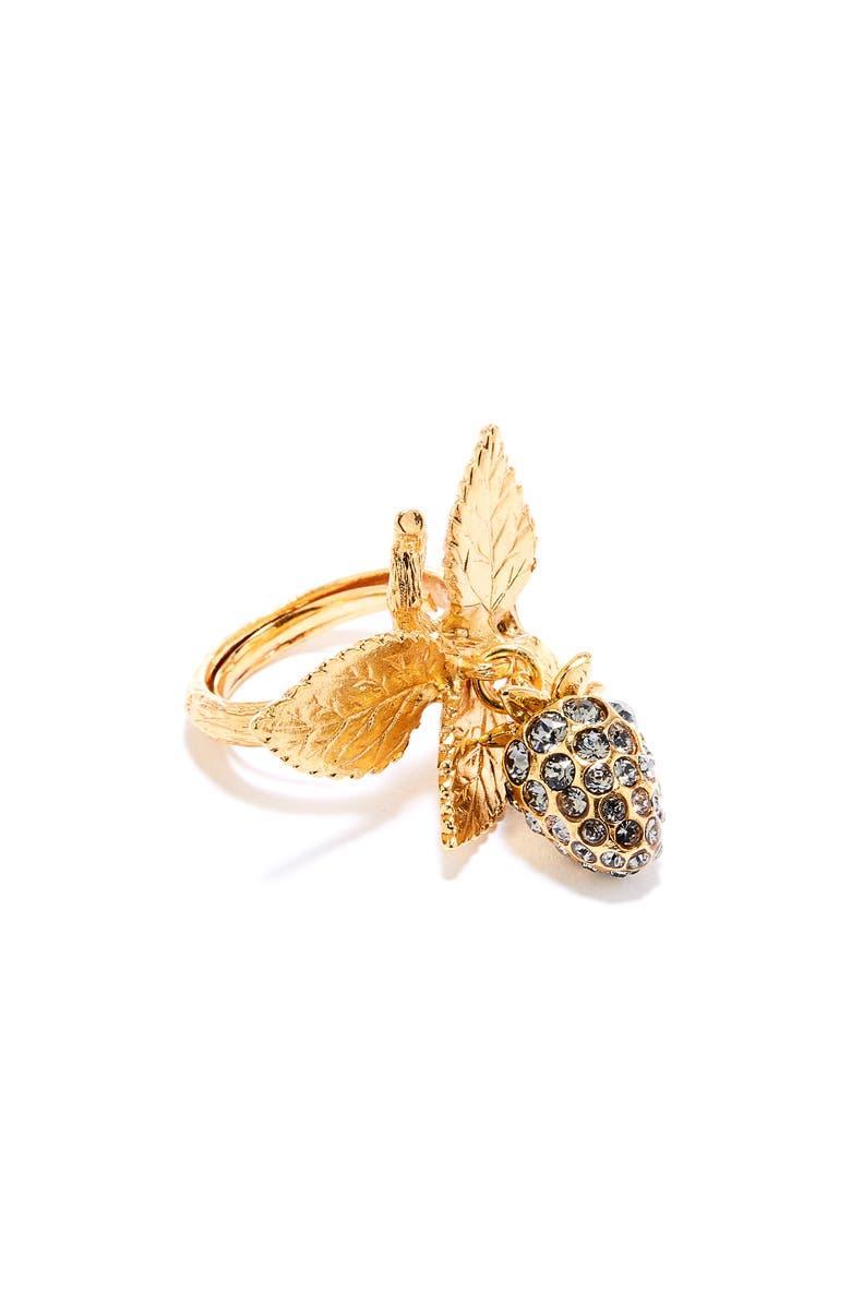 OSCAR DE LA RENTA Berry Ring, Main, color, GOLD