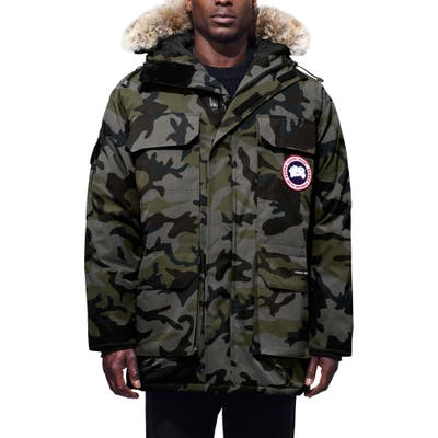 Canada Goose Expedition Extreme Weather Fusion Fit 625 Fill Power Down Parka With Genuine Coyote Fur Trim, Grey