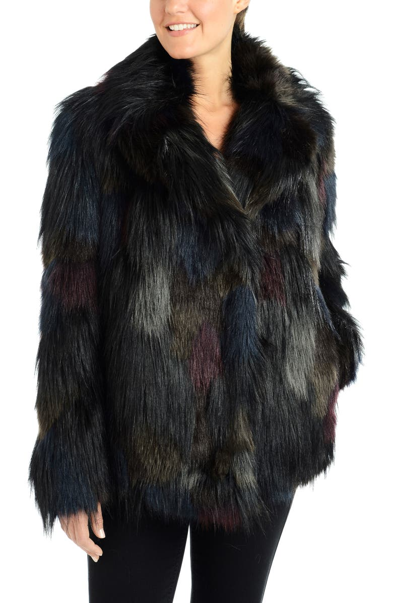 RACHEL RACHEL ROY Faux Fur Coat, Main, color, MULTI