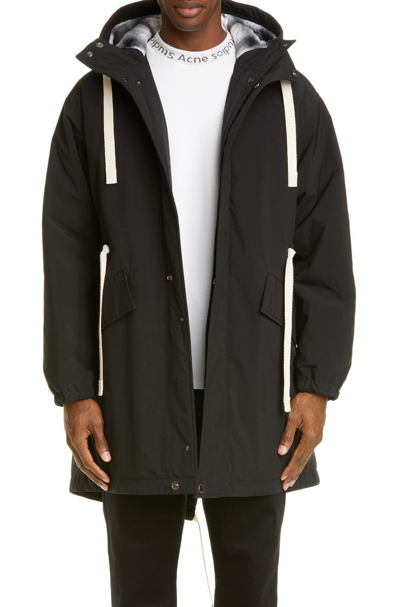 ACNE STUDIOS Ozzy Fishtail Parka, Main, color, BLACK