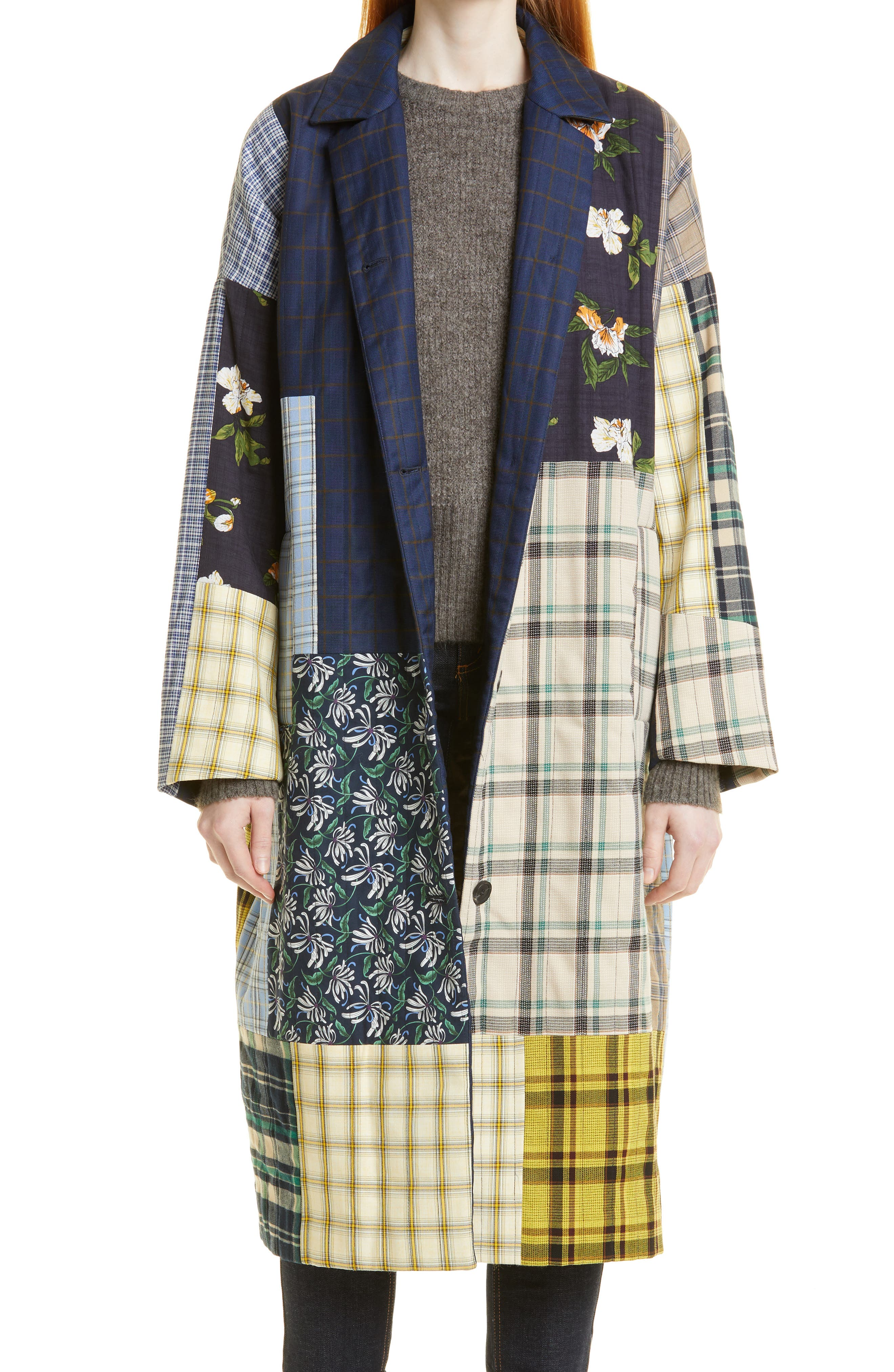 Ruthy Patchwork Coat