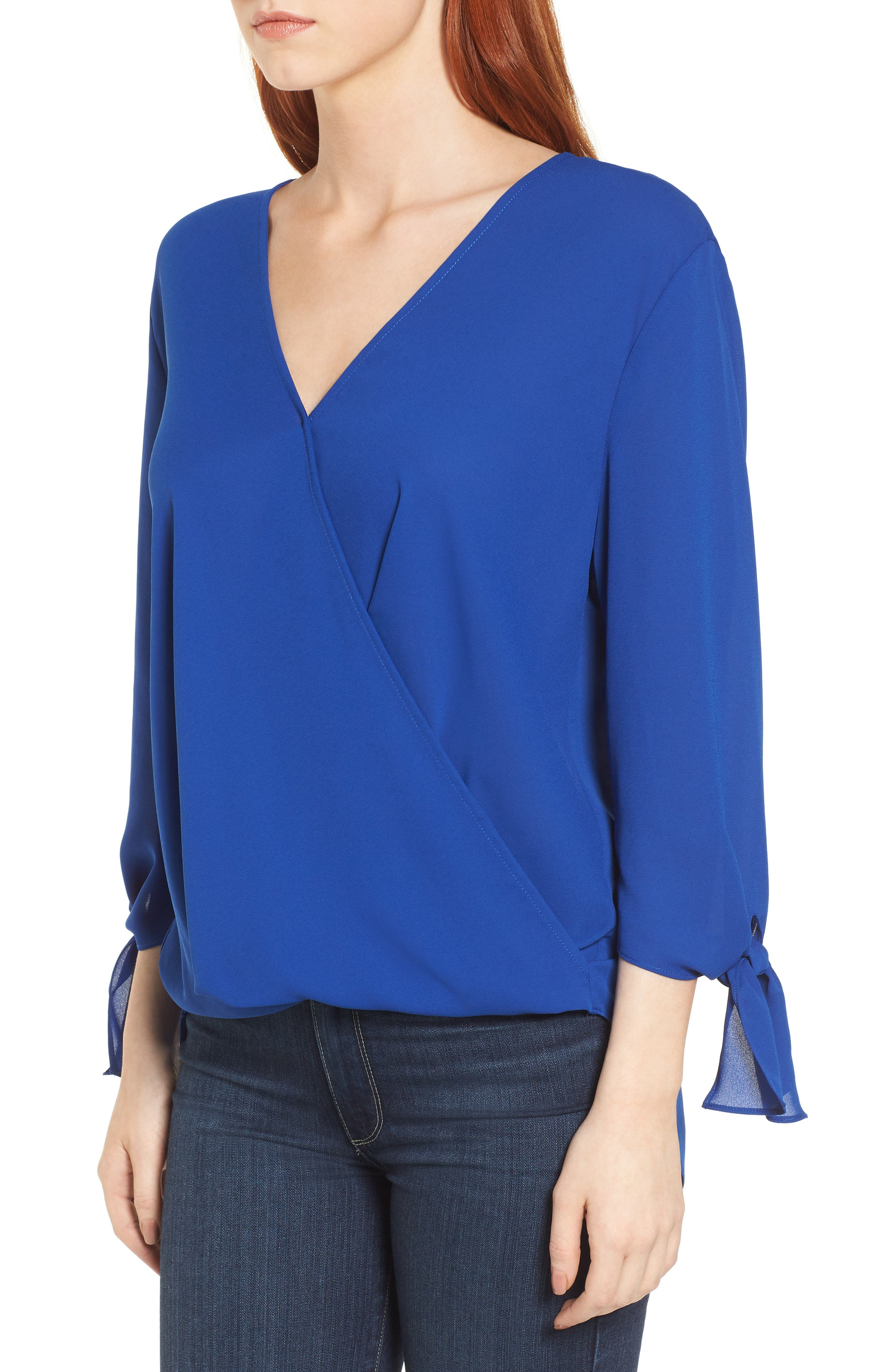 ,                             Surplice Neck Top,                             Alternate thumbnail 21, color,                             405