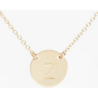 Nashelle 14K-Gold Fill Anchored Initial Disc Necklace