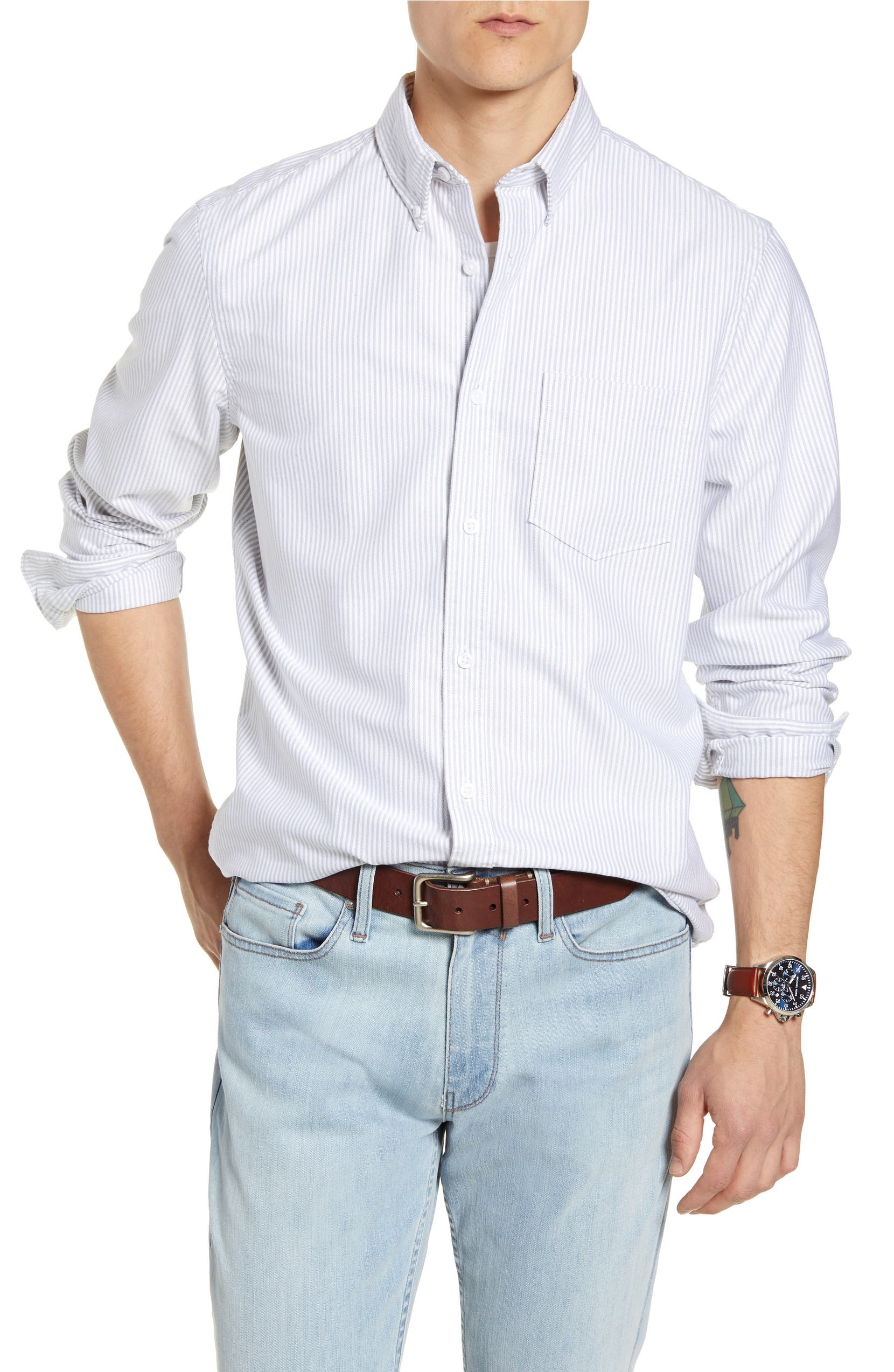 520ddf10e 1901 Slim Fit Washed Oxford Shirt | Nordstrom
