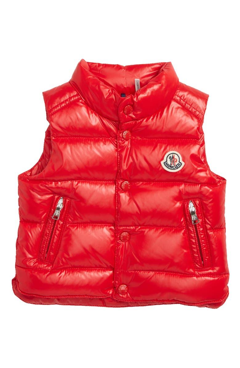MONCLER Bernard Water Resistant Down Puffer Vest, Main, color, 610