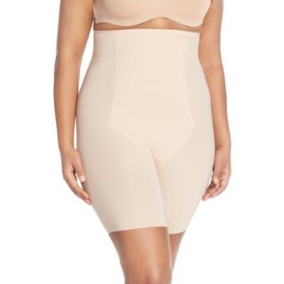 Plus Size Spanx Thinstincts(TM) High Waist Mid-Thigh Shorts, Beige