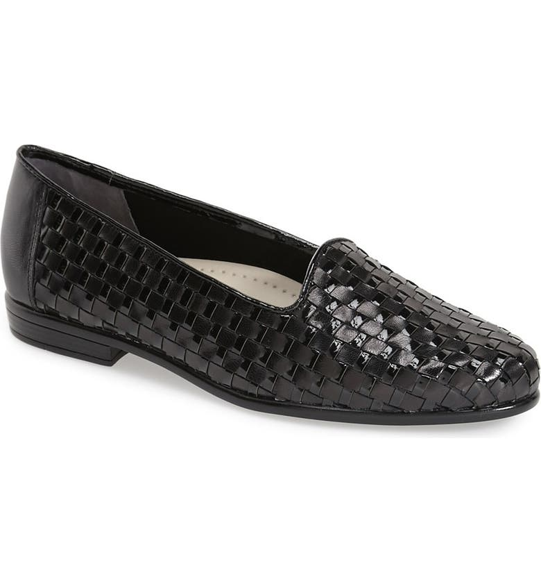 TROTTERS Slip-On, Main, color, BLACK LEATHER/ BLACK PATENT