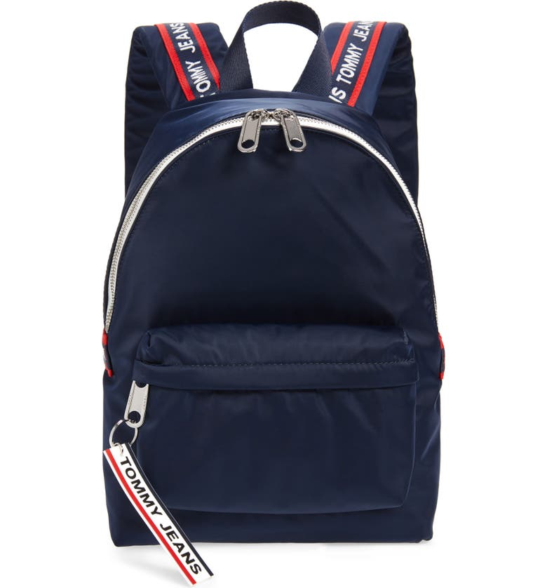 TOMMY JEANS Mini Logo Tape Nylon Backpack, Main, color, 400