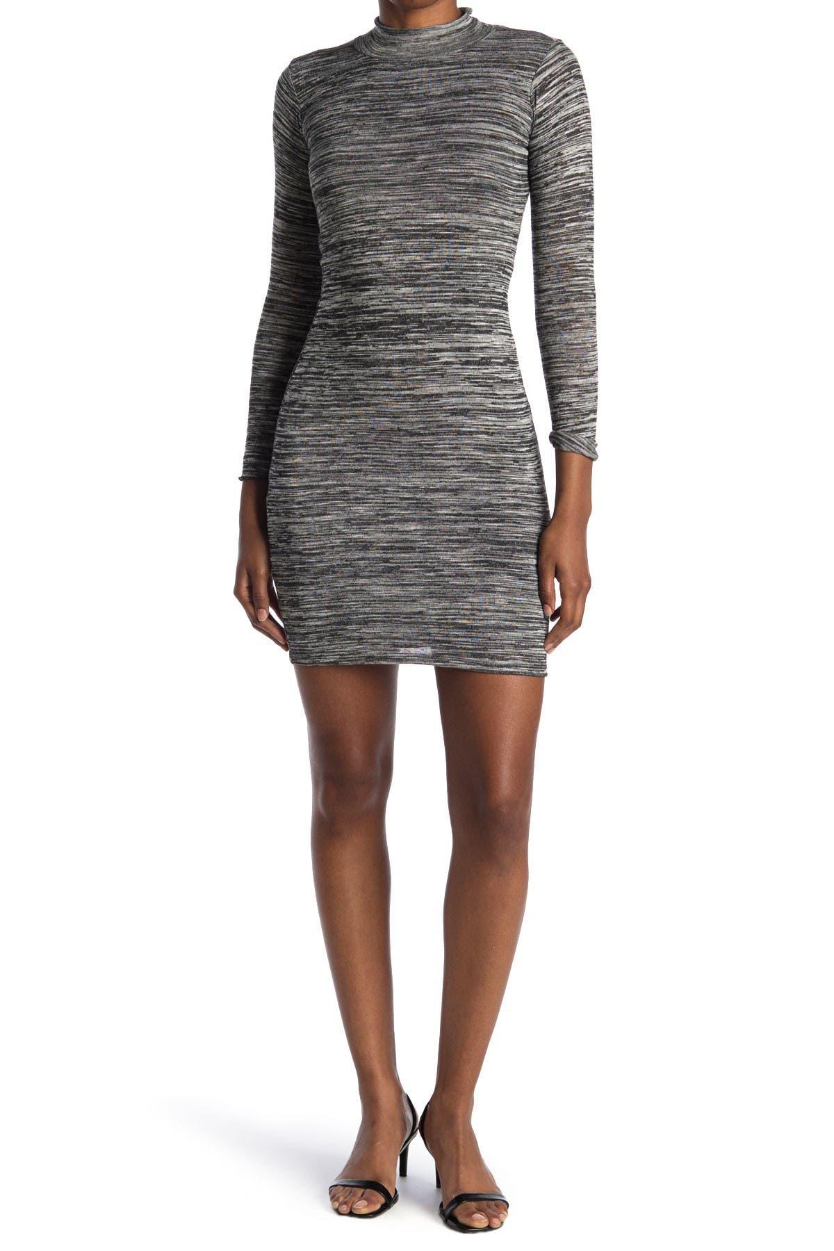 Image of Velvet Torch Mock Neck Knit Dress