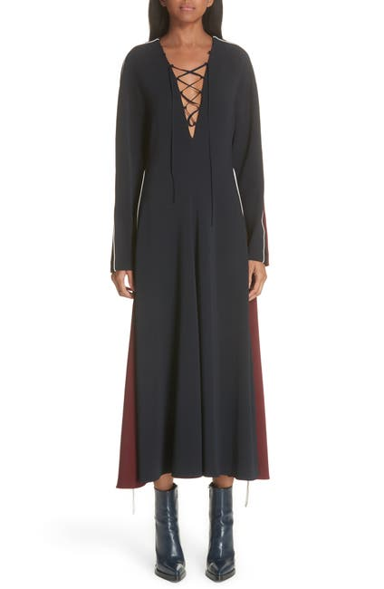 Image of Stella McCartney Bicolor Lace Up Dress
