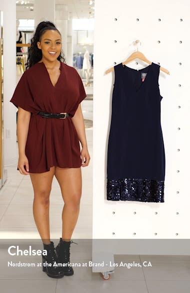 Sequin Hem Cocktail Sheath Dress, sales video thumbnail