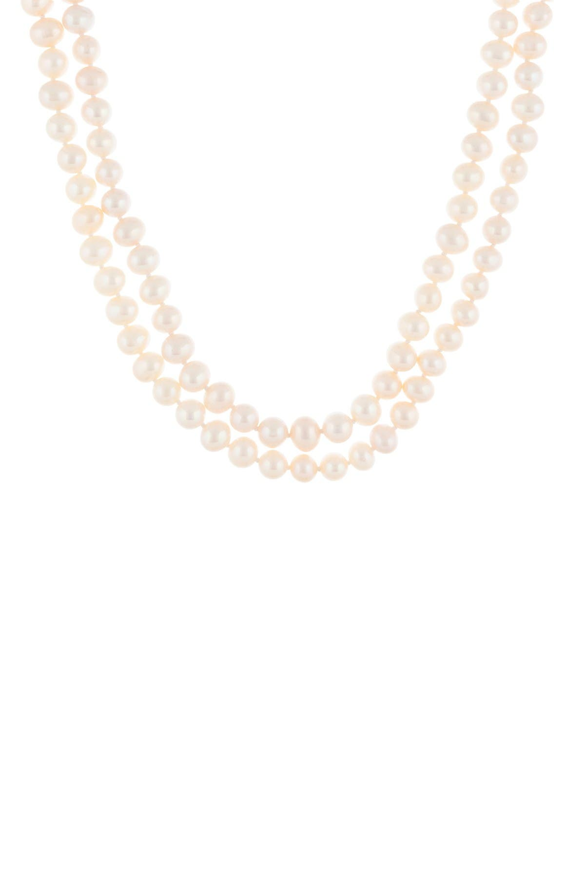 Image of Splendid Pearls 8-9mm Natural White Cultured Freshwater Pearl Infinity Necklace