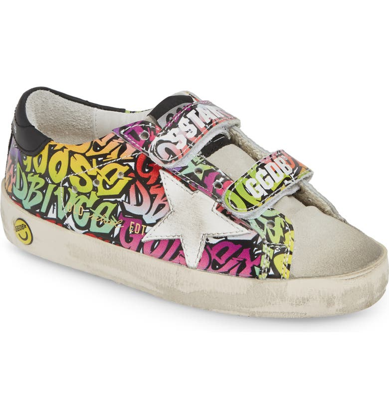GOLDEN GOOSE Old School Low Top Sneaker, Main, color, MULTICOLOR GOLDEN GOOSE LOGO