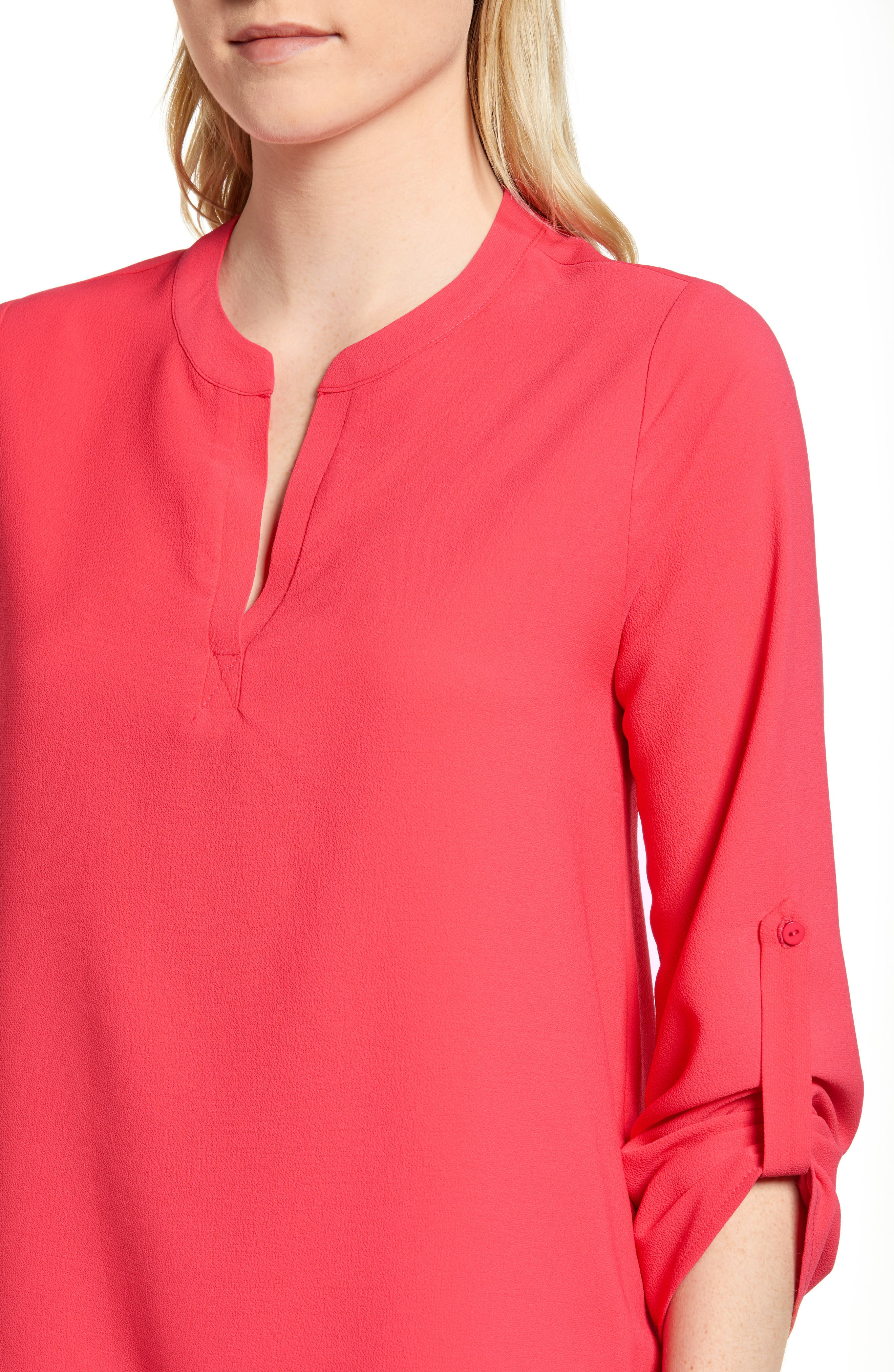,                             x International Women's Day Erin Cross Front Tunic Blouse,                             Alternate thumbnail 69, color,                             651