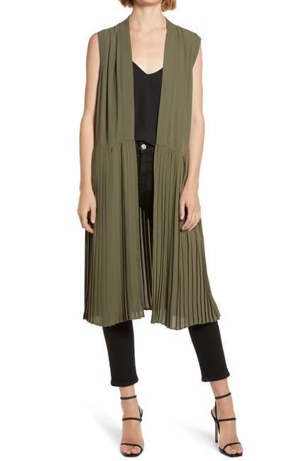 Image of Chelsea28 Pleated Sleeveless Long Jacket