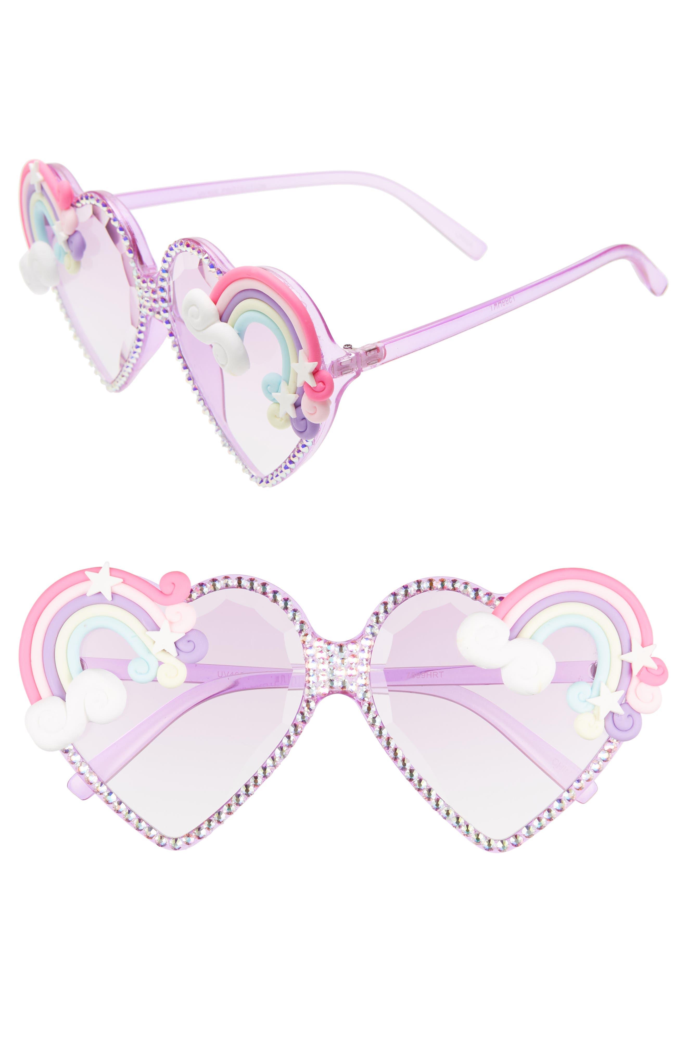 Rad + Refined Rainbow Heart Sunglasses - Rainbow/ Multi