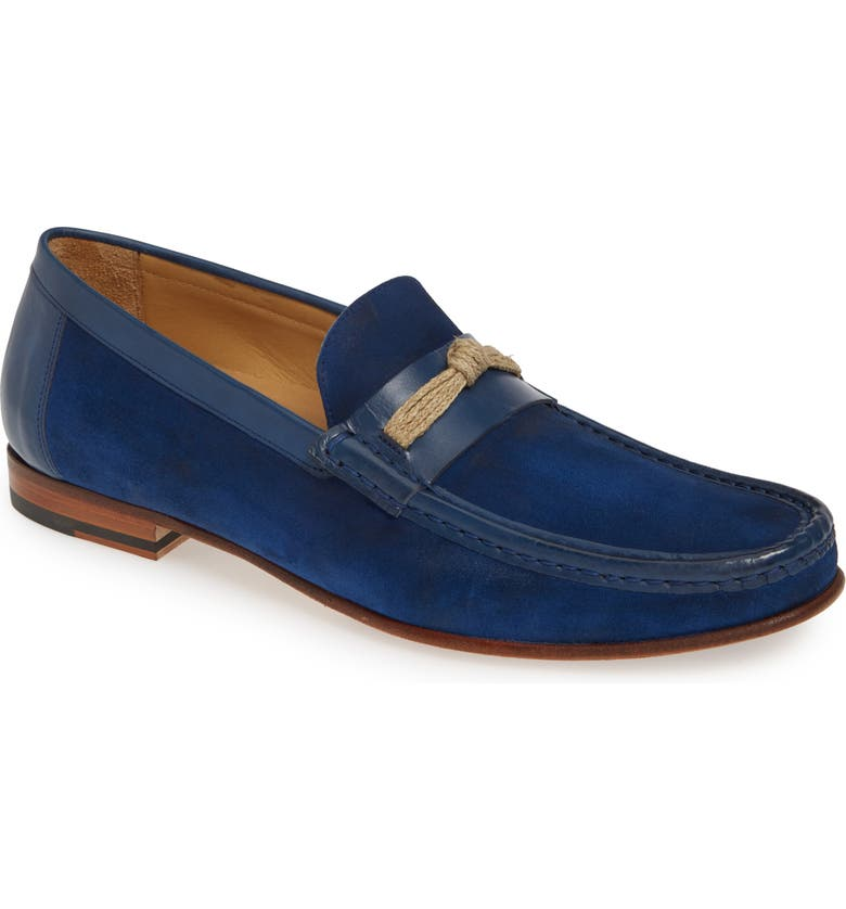 MEZLAN Segura Loafer, Main, color, BLUE SUEDE