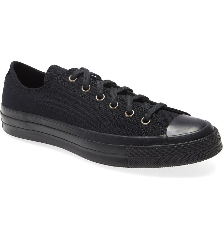 CONVERSE Chuck Taylor<sup>®</sup> All Star<sup>®</sup> 70 Low Top Sneaker, Main, color, BLACK/ ALMOST BLACK/ BLACK