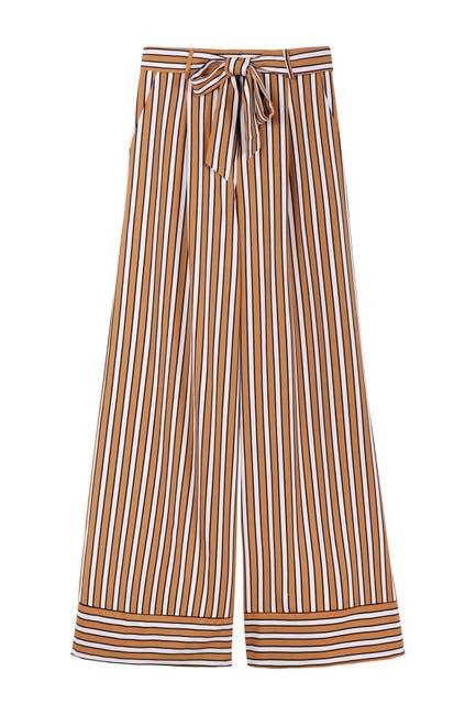 Image of FRNCH Stripe Print Wide Leg Pants