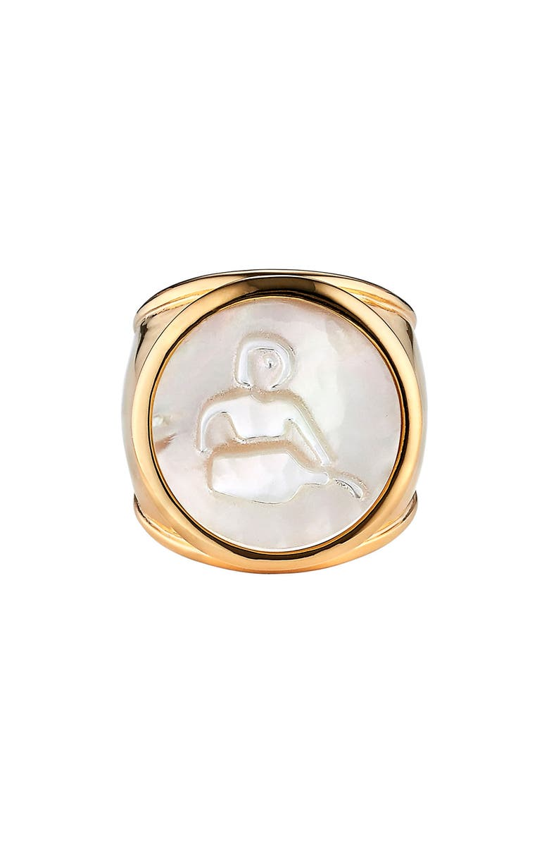 ASHA Zodiac Mother-of-Pearl Ring, Main, color, 100