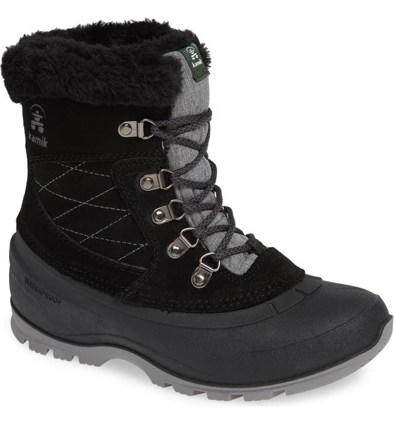 KAMIK Snovalley1 Waterproof Thinsulate<sup>®</sup> Insulated Snow Boot, Main, color, 001
