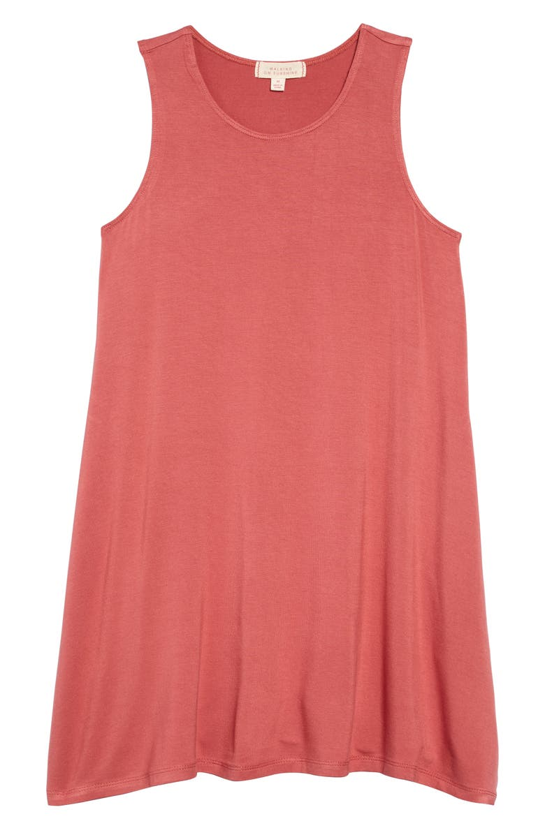 WALKING ON SUNSHINE Tank Dress, Main, color, CORAL