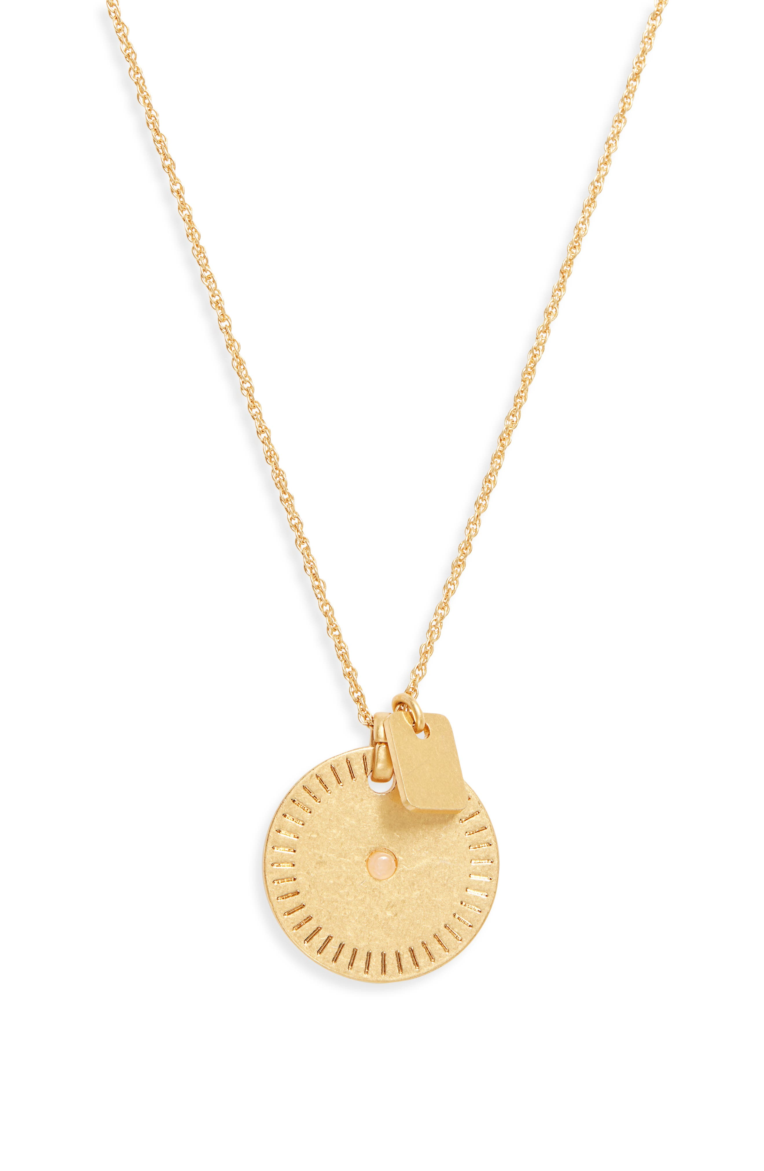 Image of Madewell Disc Charm Pendant Necklace