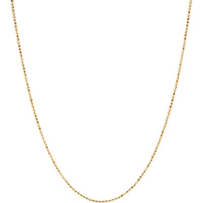 Ef Collection Gold Faceted Chain Necklace