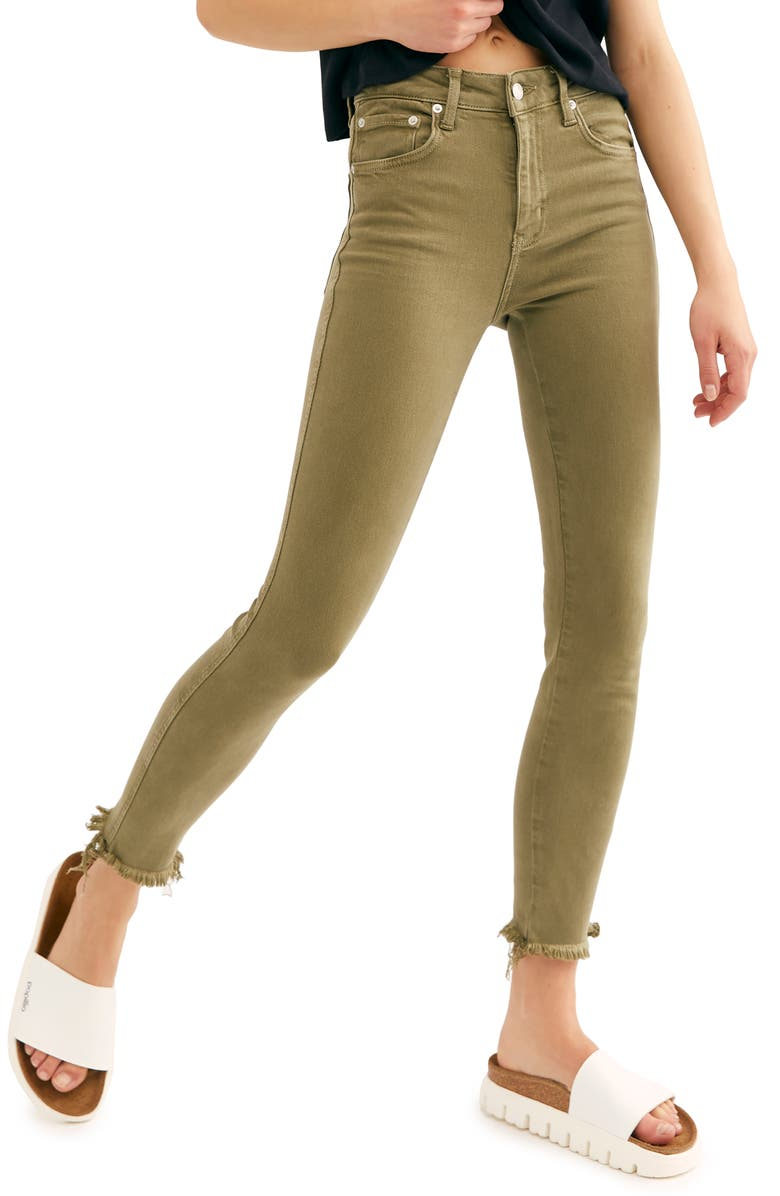 FREE PEOPLE High Waist Ankle Jeggings, Main, color, 352