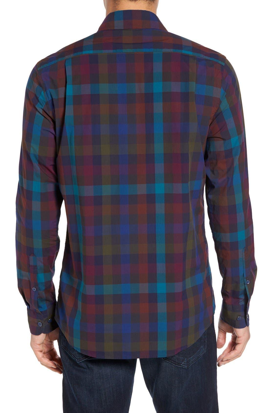 Image of RODD AND GUNN Redbridge Plaid Print Sports Fit Shirt