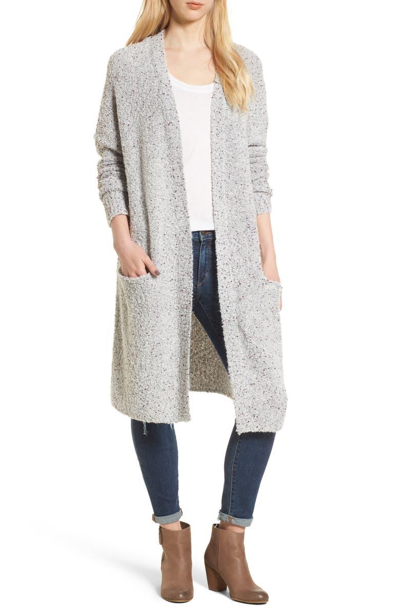 HINGE Stem BoucléSweater Coat, Main, color, 020