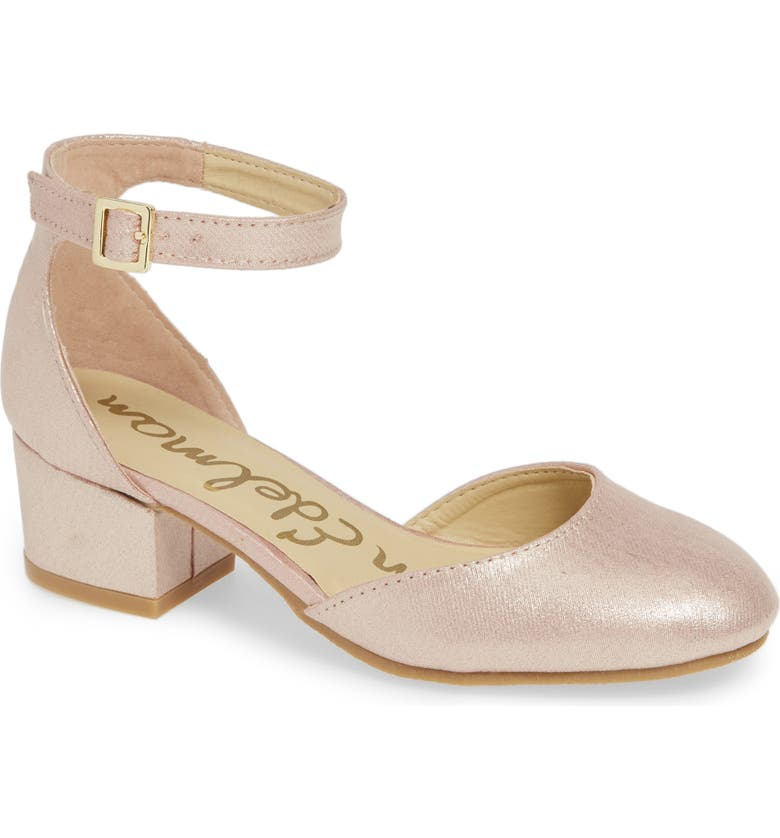SAM EDELMAN Evelyn Sue Ankle Strap Shoe, Main, color, ROSE GOLD