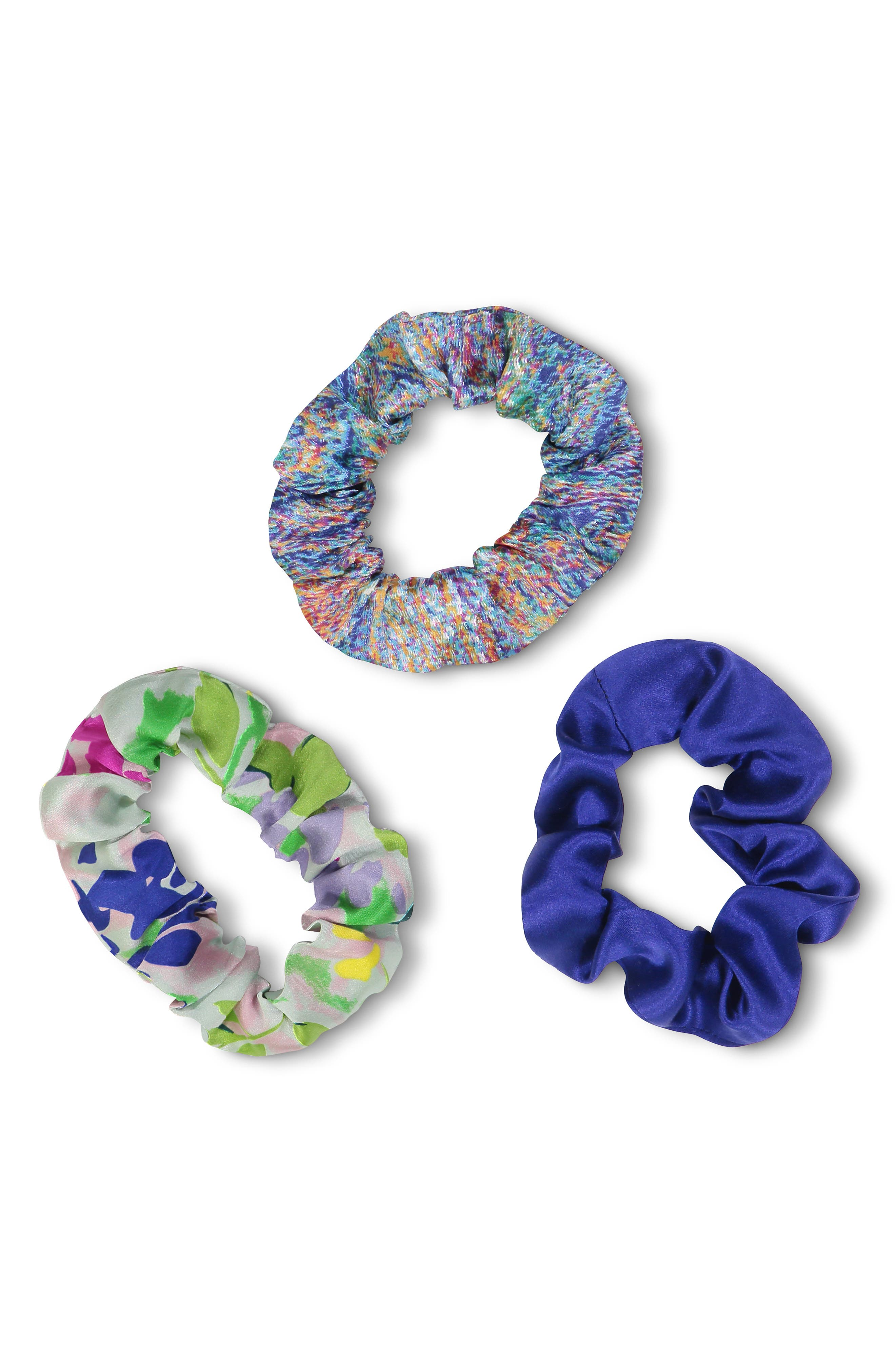 Assorted 3-Pack Silk Scrunchies