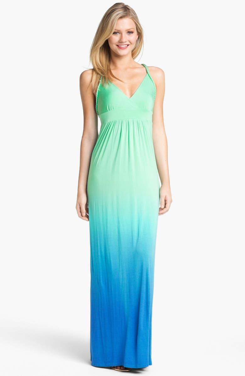 FELICITY & COCO Ombré Jersey Maxi Dress, Main, color, 429
