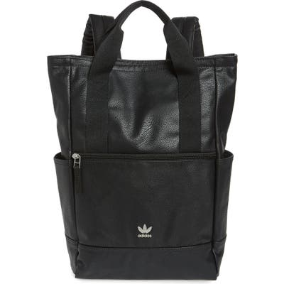 Adidas Originals Tote Pack Iii Faux Leather Backpack - Black
