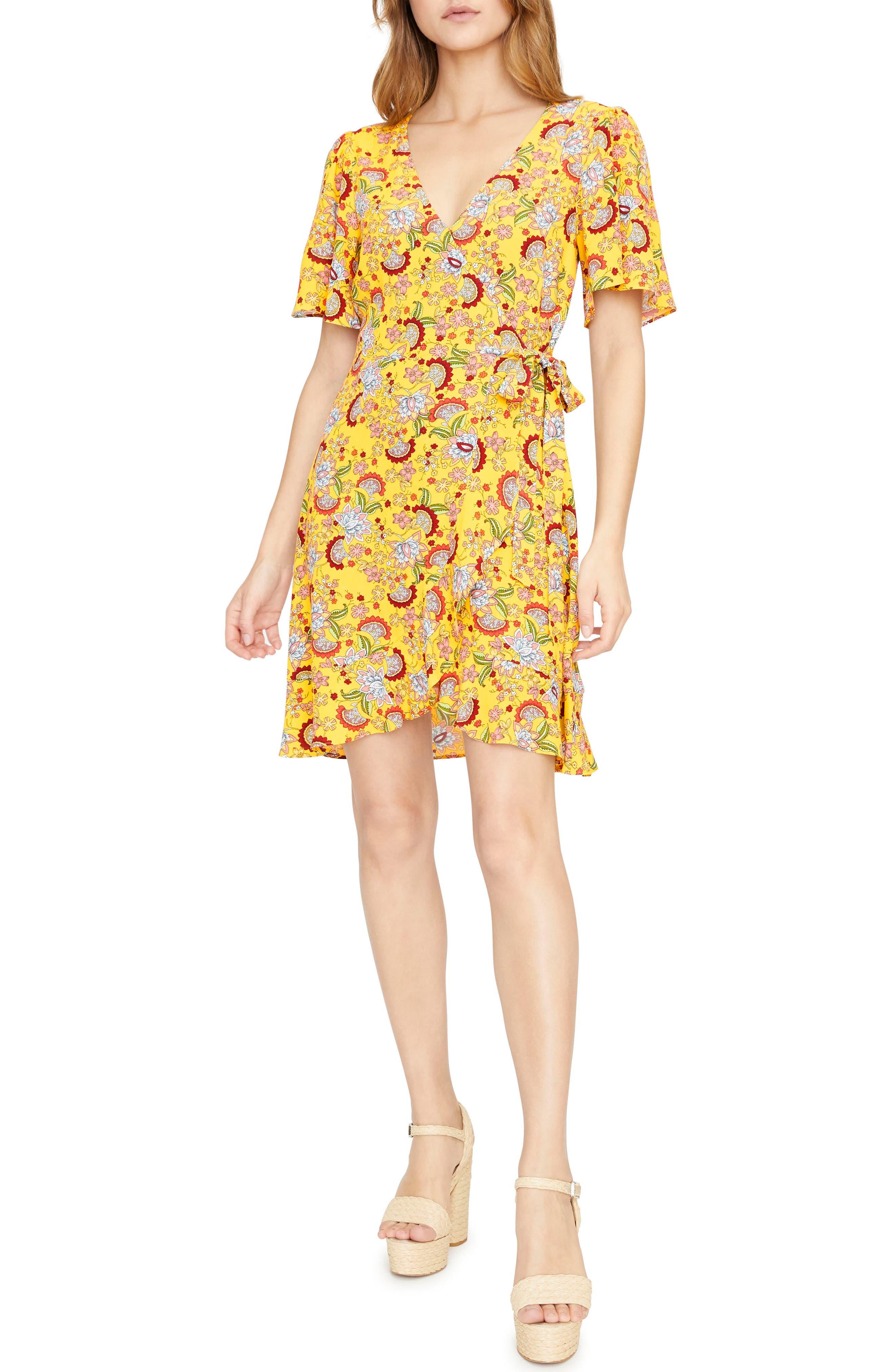 Sanctuary Sassy Wrap Dress, Yellow