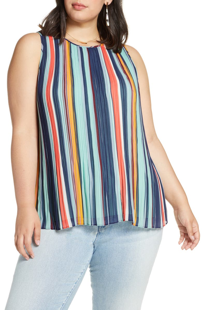 HALOGEN<SUP>®</SUP> Pleated Top, Main, color, 415