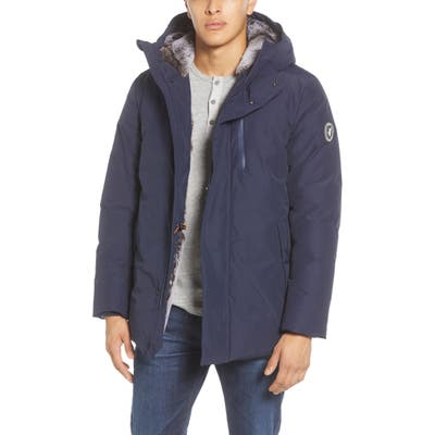 Save The Duck Faux Fur Lined Hooded Parka, Blue
