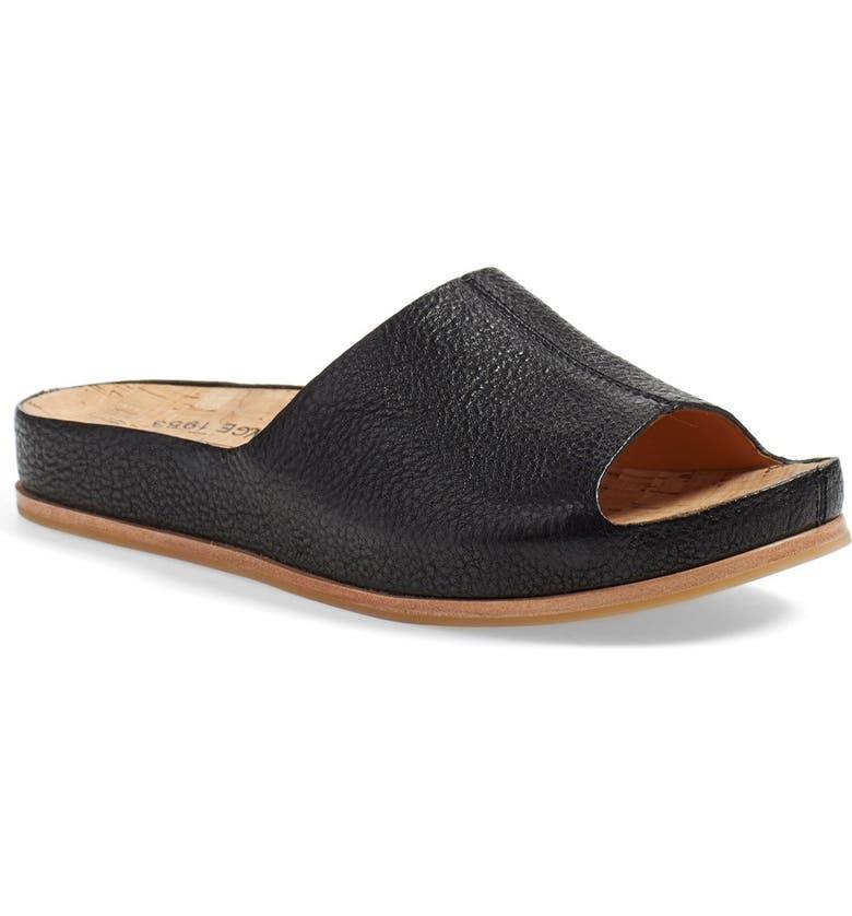 KORK-EASE<SUP>®</SUP> 'Tutsi' Slide Sandal, Main, color, BLACK LEATHER