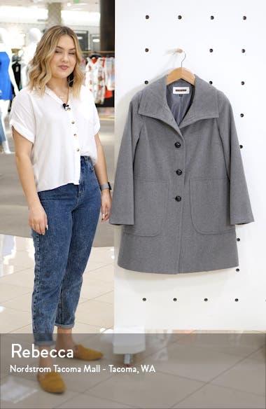 Studio Collection Wool Blend Walking Coat, sales video thumbnail