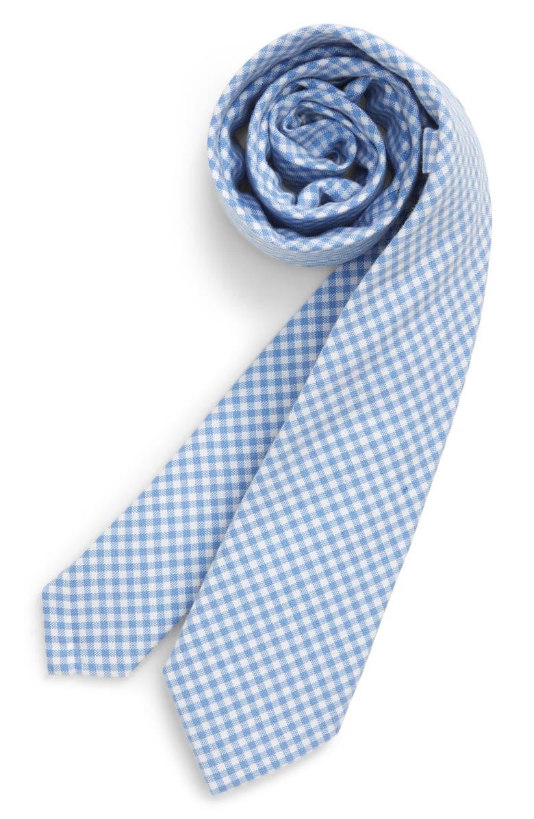 NORDSTROM Jasper Check Silk Tie, Main, color, LIGHT BLUE